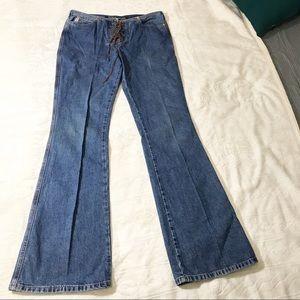 GUESS Vintage Jeans Denim Wide Leg Light Wash